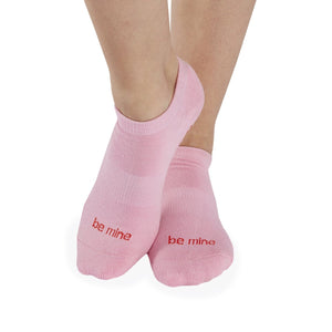 Load image into Gallery viewer, BE MINE Grip Socks - Pink Mist/Red Hearts - MAX & ME SPORT