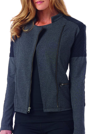 Sandra Quilted Moto Jacket - MAX & ME SPORT