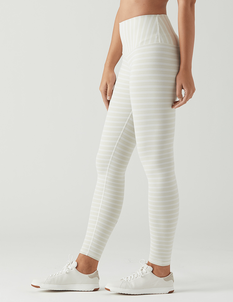 Load image into Gallery viewer, Sultry Legging - Creme/White Pinstripe - Glyder Sale