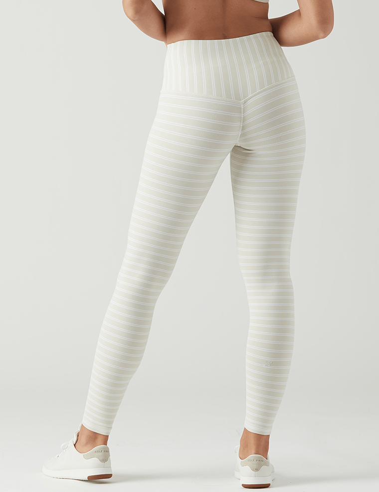 Sultry Legging - Creme/White Pinstripe - Glyder Sale