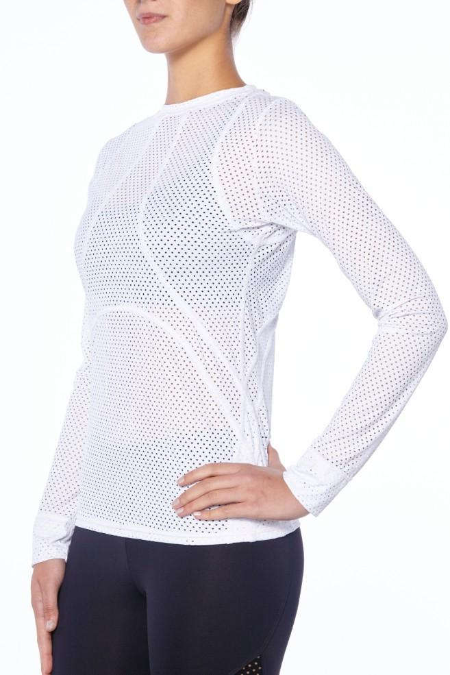 Track Me Down Rash Guard - White - MAX & ME SPORT