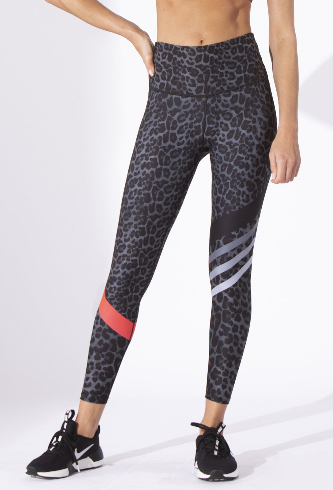Black Lucky Cheetah High Waist Legging