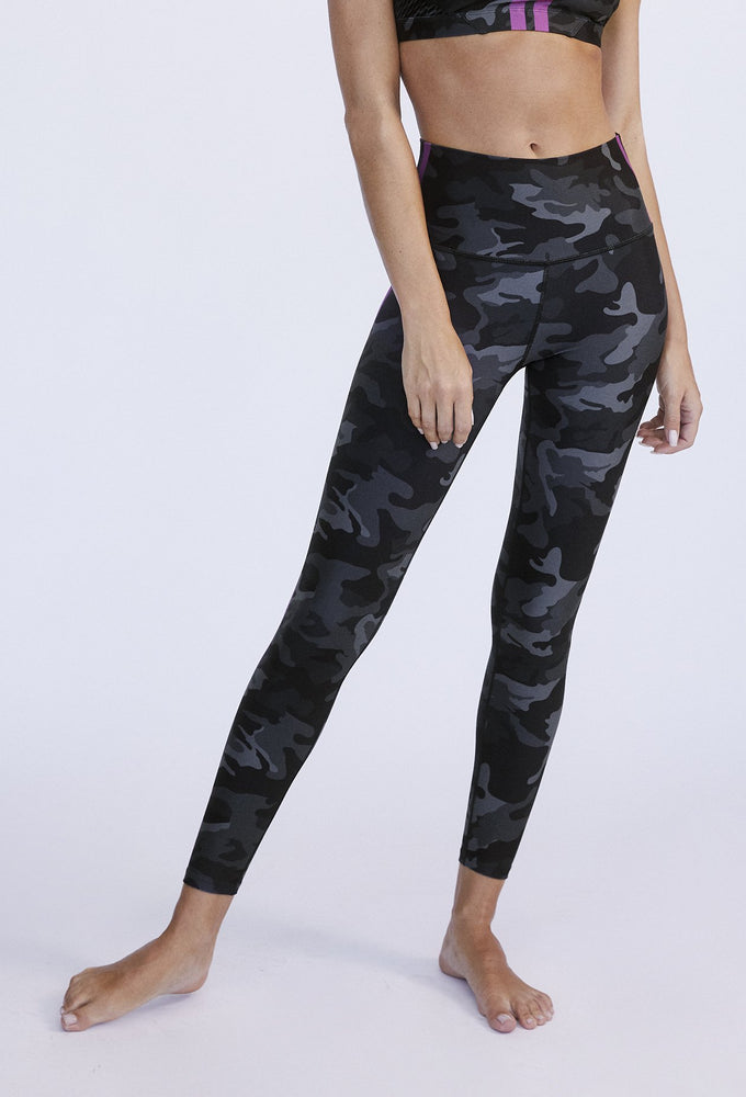 Black Camo High Waist Legging - WITH Sale