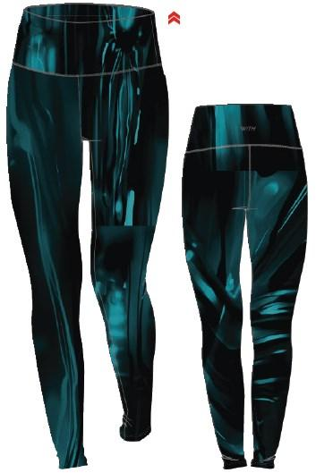 Load image into Gallery viewer, Trent Regular Waist Legging - Teal Hotrod - MAX & ME SPORT