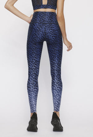 Blue Chill Cheetah High Waist Legging - WITH Leggings
