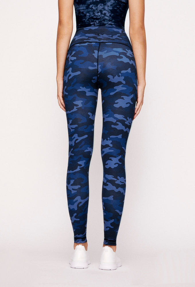 Navy Tie Dye Reversible High Waist Legging - WITH Leggings