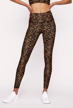 Real Cheetah Reversible High Waist Legging - Max and Me Sport - Wear it to Heart - WITH