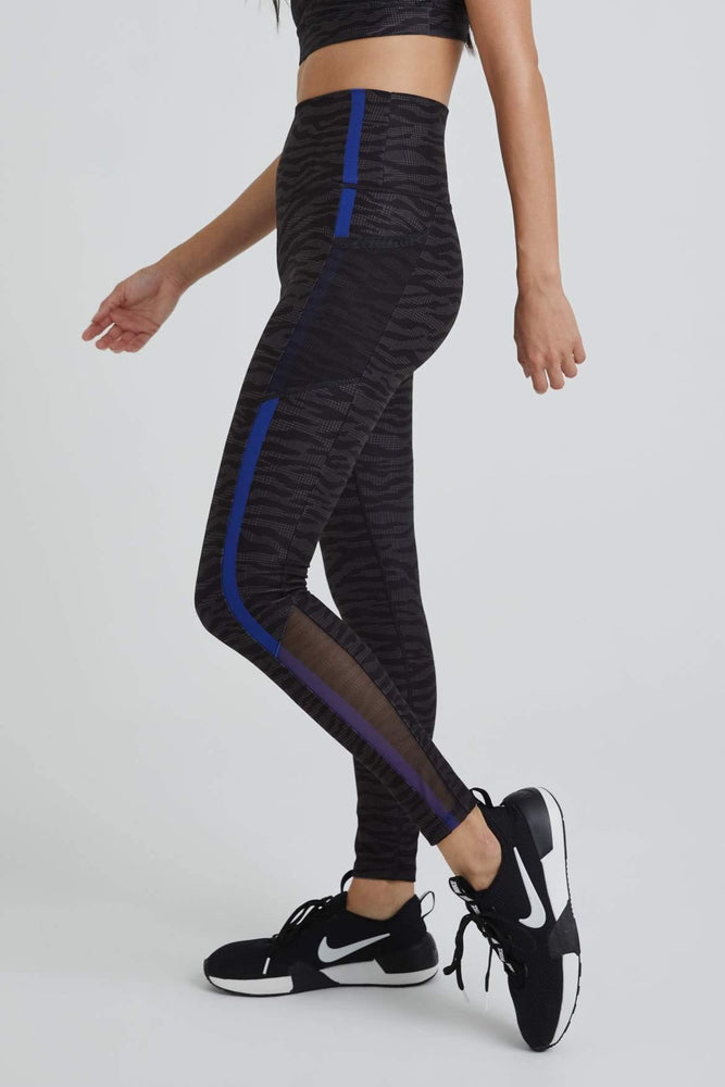 Nala Legging - Zebra w/Cobalt Blue - WITH New Arrivals