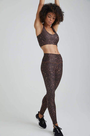 Load image into Gallery viewer, Mocha Super Disco Foil High Waist Legging - WITH New Arrivals