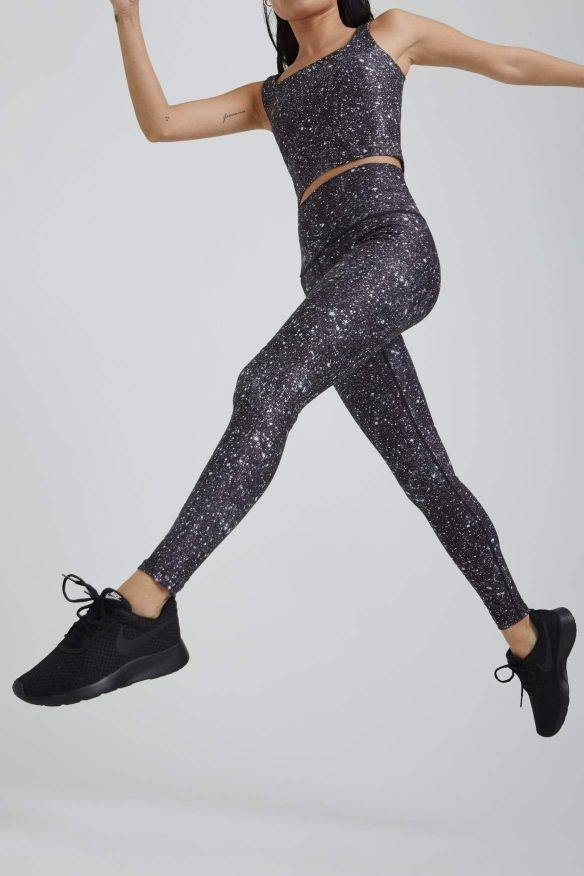Load image into Gallery viewer, Noir Super Disco Foil High Waist Legging - WITH New Arrivals