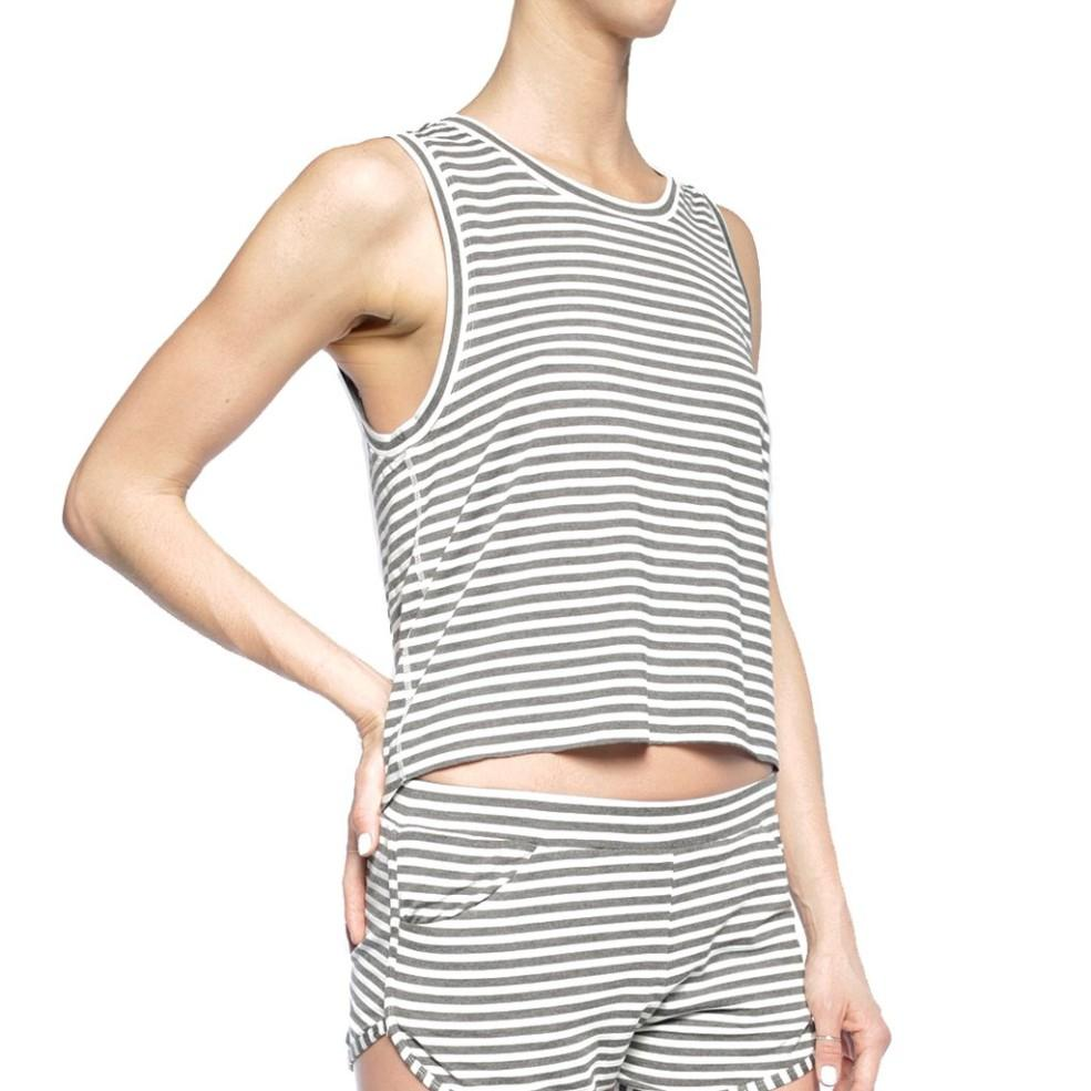 Zeal Striped Split Back Tank - Chill by Will Clearance