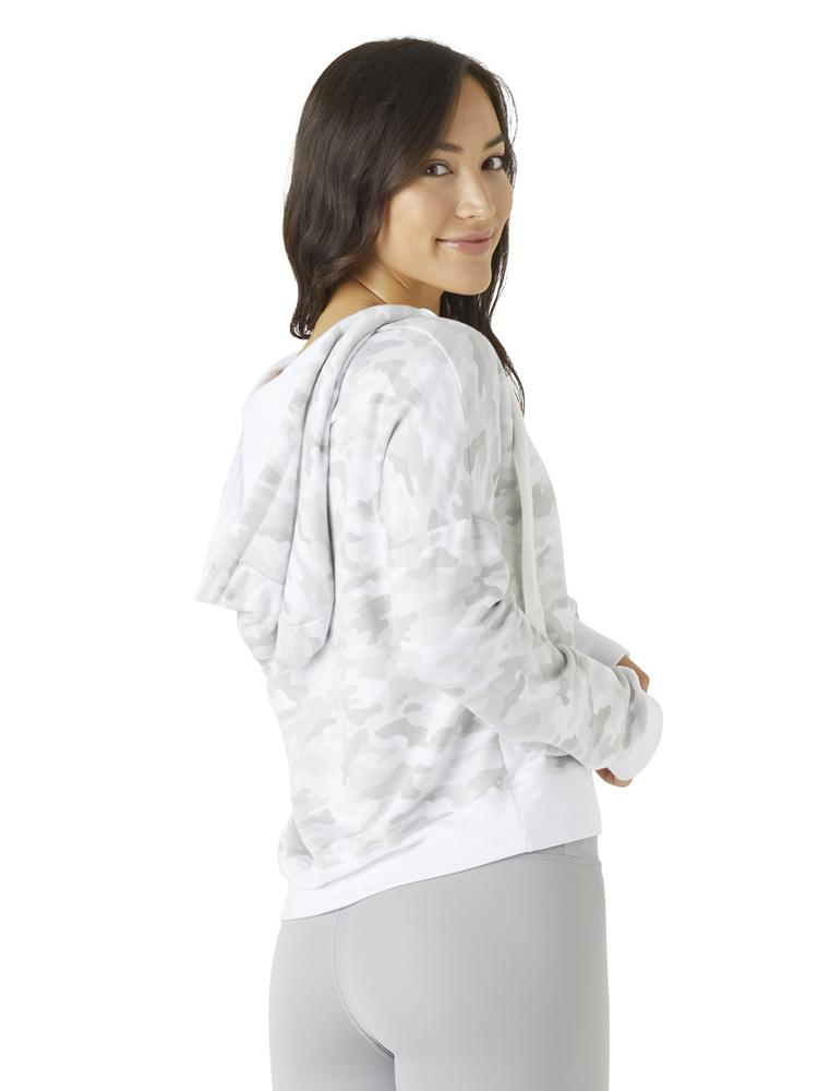 Load image into Gallery viewer, Half-Zip Hoodie - White Camo - MAX & ME SPORT