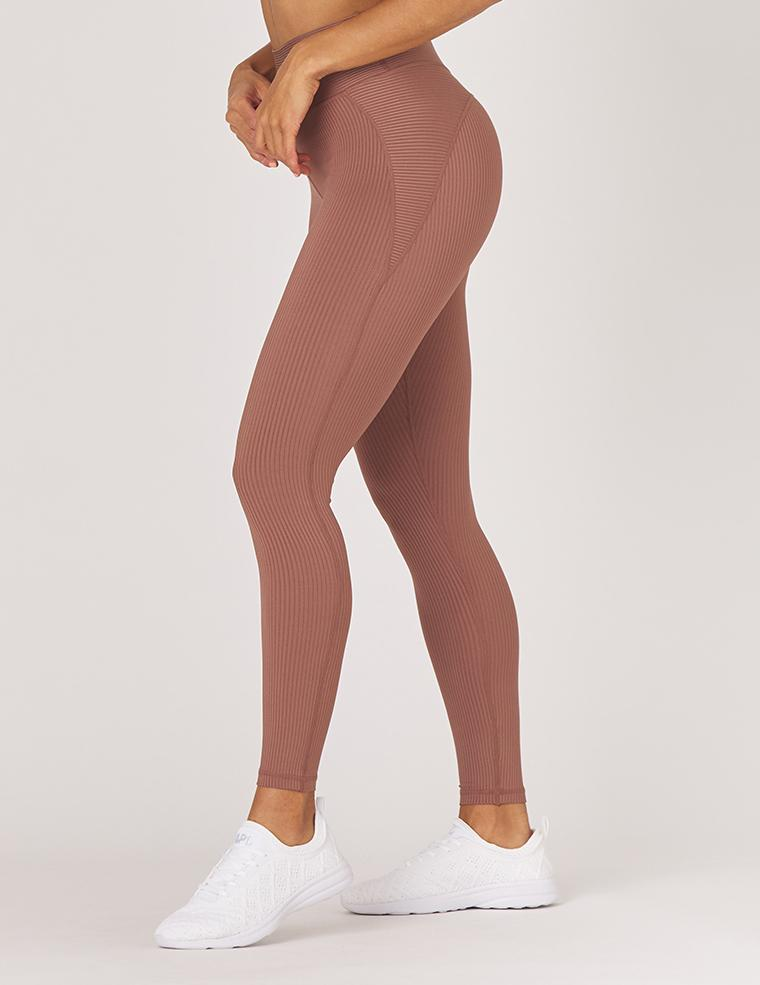 jubilant legging - cocoa - MAX & ME SPORT - ribbed leggings