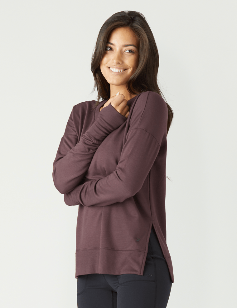 Lounge Long Sleeve - Deep Plum - Glyder Long Sleeves