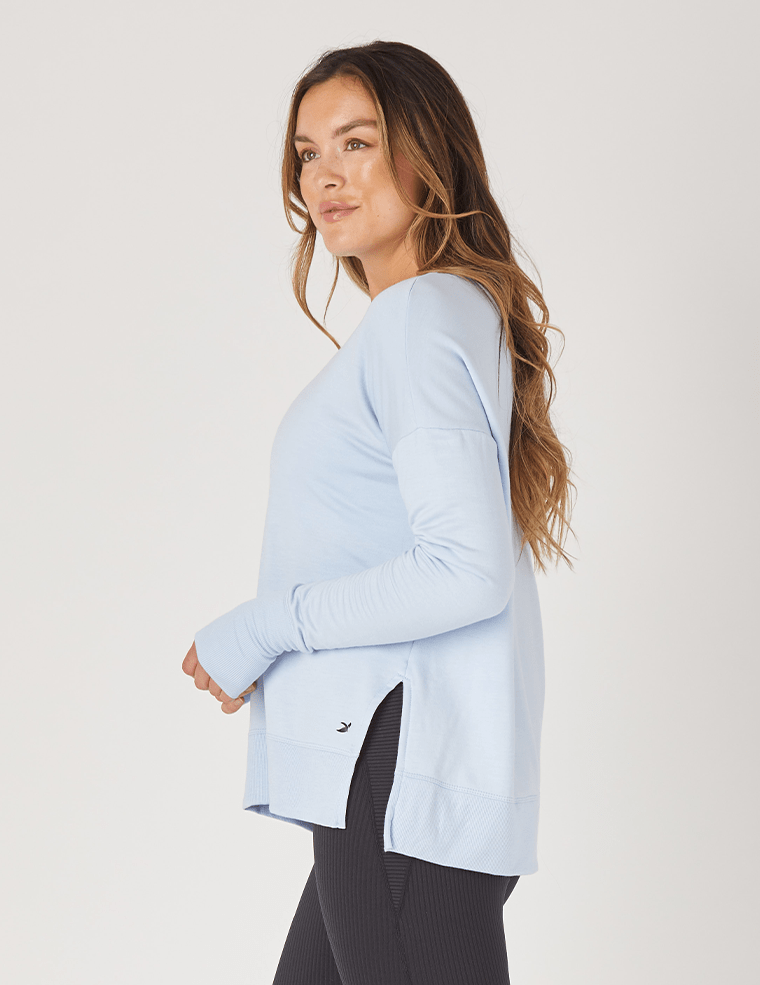 Lounge Long Sleeve - Ice Blue - MAX & ME SPORT