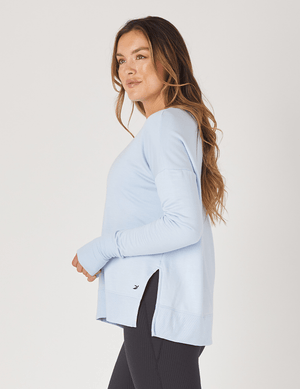 Lounge Long Sleeve - Ice Blue - Glyder Long Sleeves