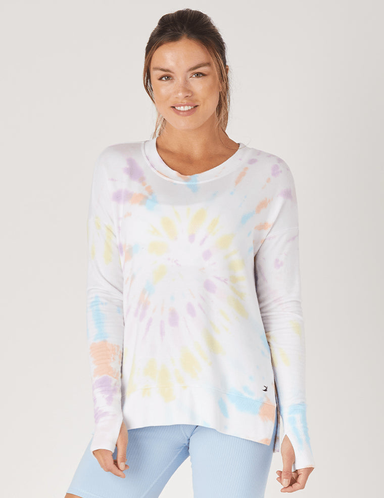 Lounge Long Sleeve - Rainbow Tie Dye