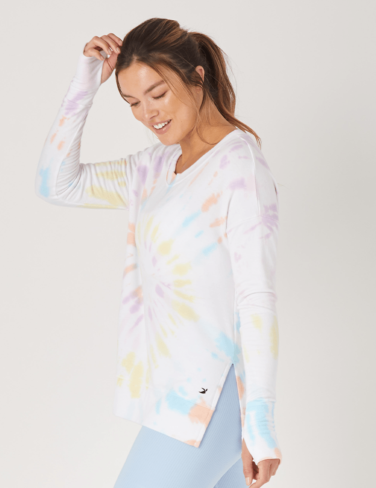 Lounge Long Sleeve - Rainbow Tie Dye - Glyder Long Sleeves