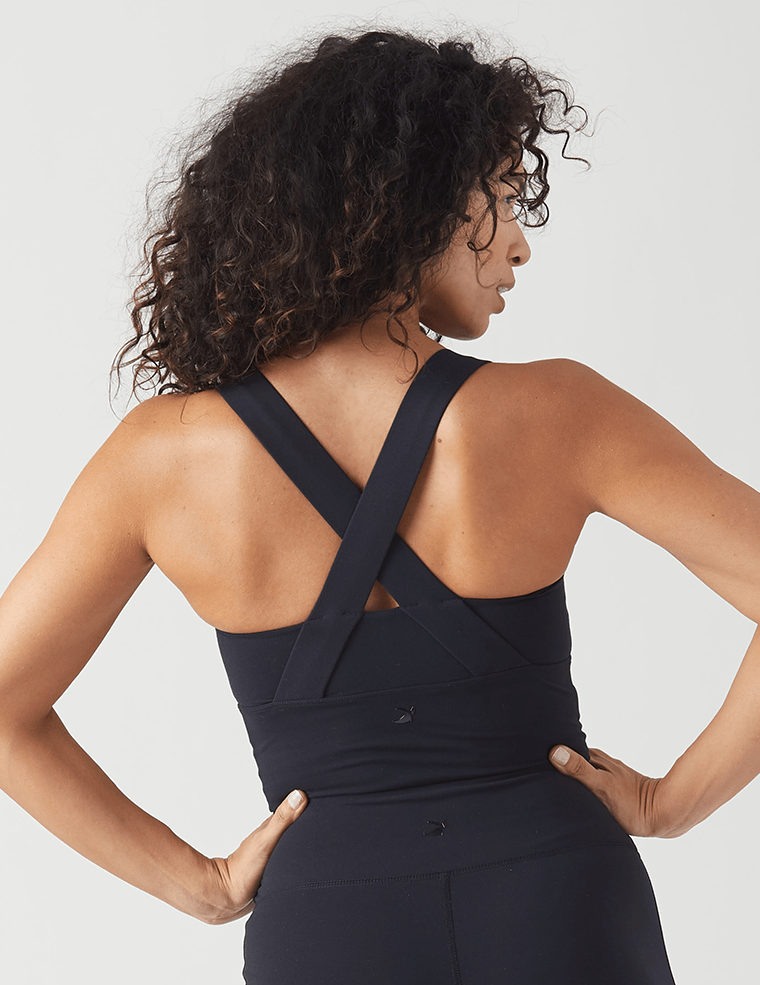 Load image into Gallery viewer, One Crop Bra - Black - MAX & ME SPORT