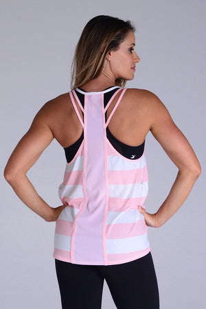 Load image into Gallery viewer, Lunar Tank - Pink Stripe - MAX & ME SPORT