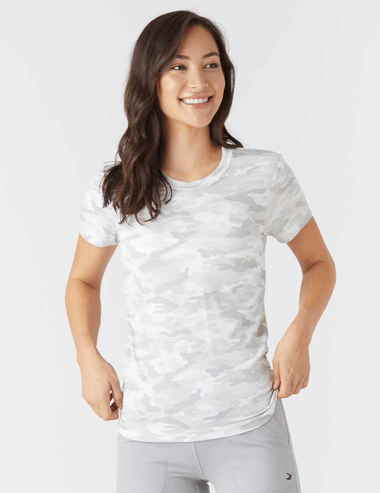 Load image into Gallery viewer, Simplicity Tee - White Camo - Glyder Tops