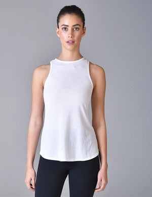 Load image into Gallery viewer, Slash Racerback Tank - White - MAX & ME SPORT