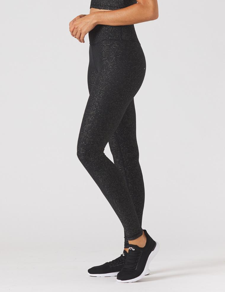 Sultry Legging - Black/Gold Shimmer - Glyder Sale