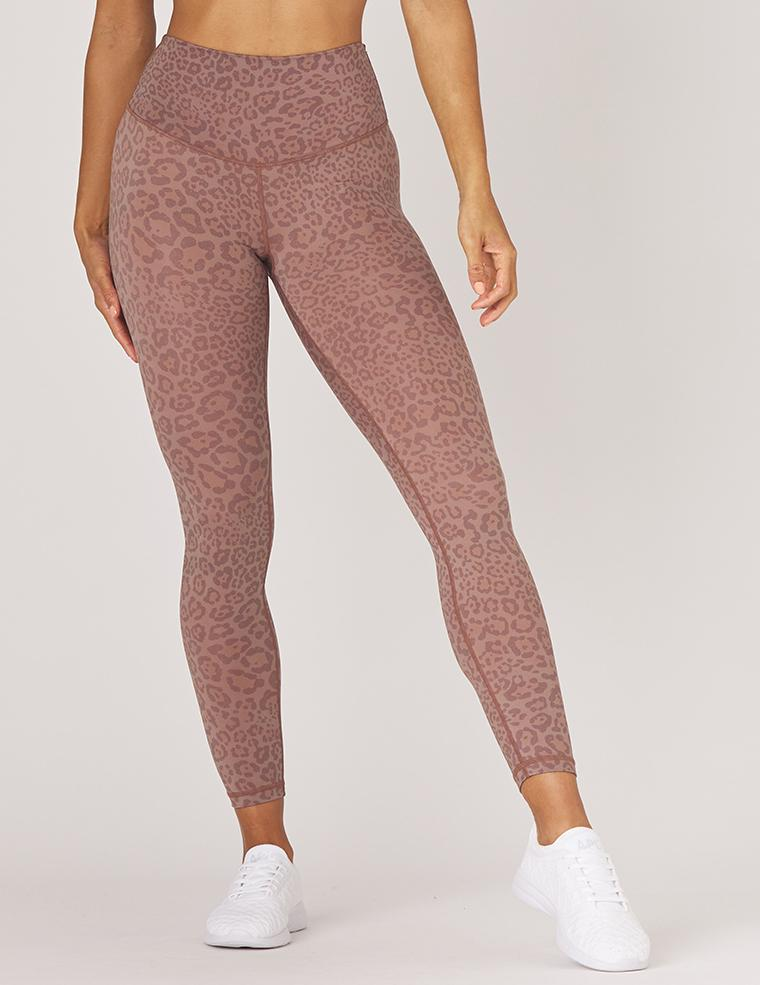 sultry legging - cocoa leopard - MAX & ME SPORT - animal print leggings - neutral leggings - Glyder