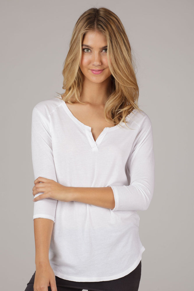 3/4 Sleeve Dolman - White - MAX & ME SPORT, LVR, organic cotton, white pullover