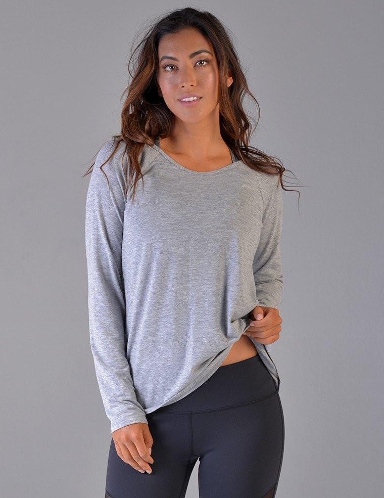 Vata Long Sleeve - Grey Heather - Glyder Clearance