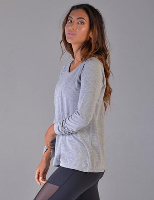 Load image into Gallery viewer, Vata Long Sleeve - Grey Heather - Glyder Clearance