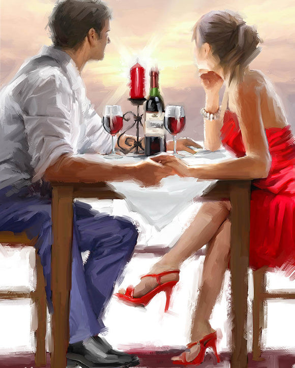 Romantic Dinner, 40x50 cm