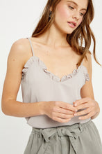 Load image into Gallery viewer, Silver Ruffle Camisole
