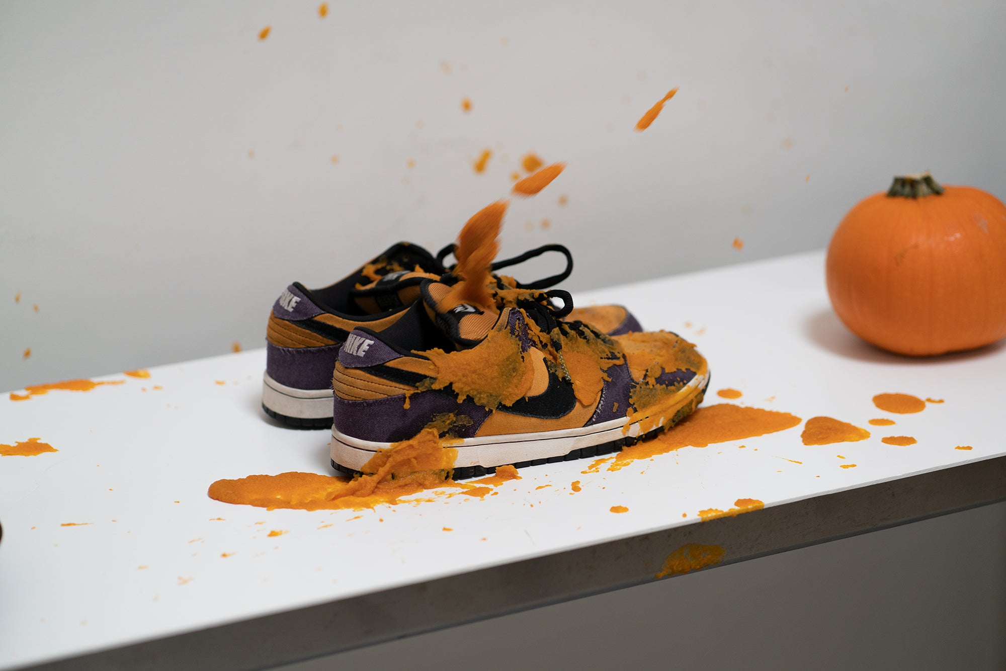How to Clean Pumpkin off your sneakers