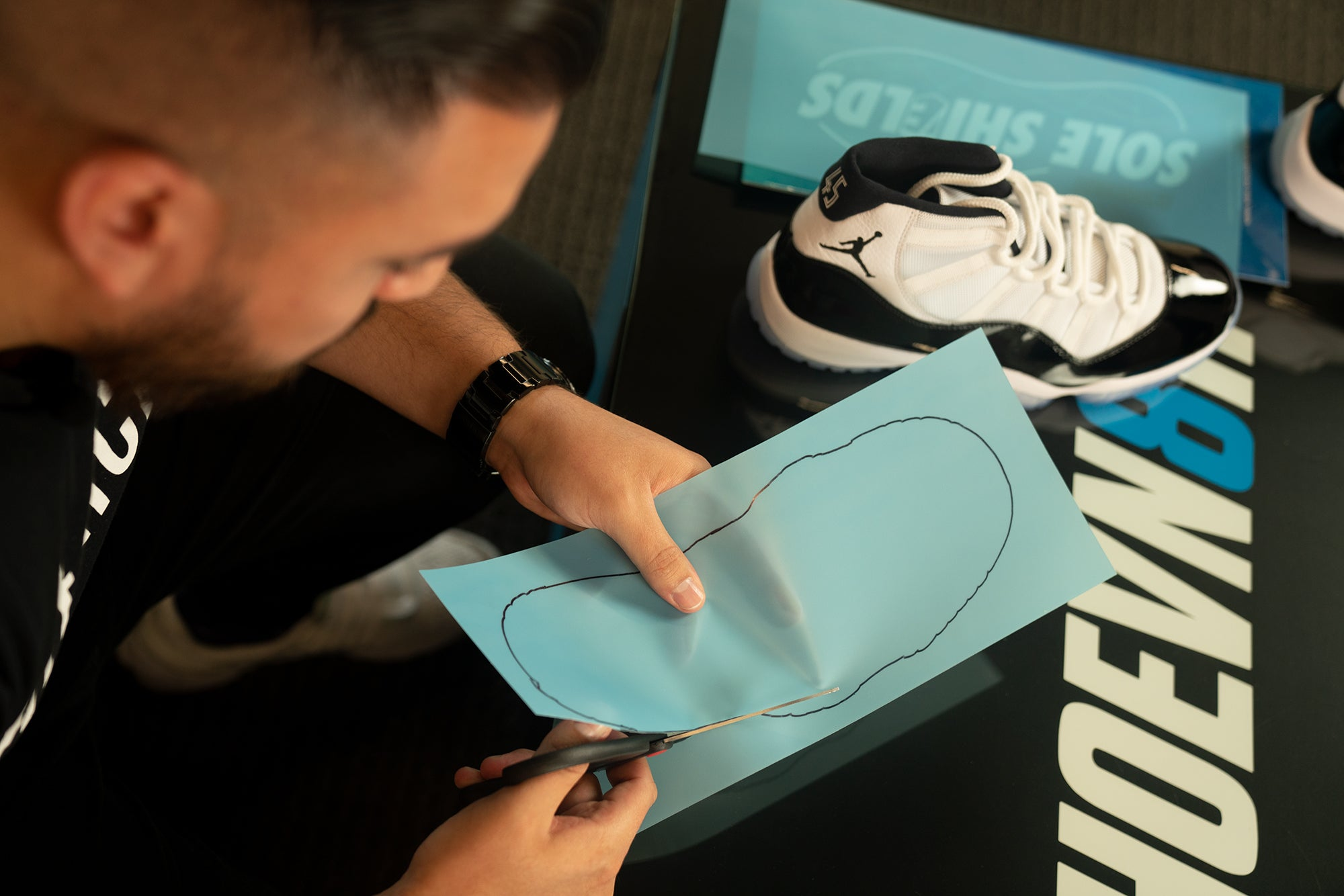 How to apply Sole Shields on Concord 11s