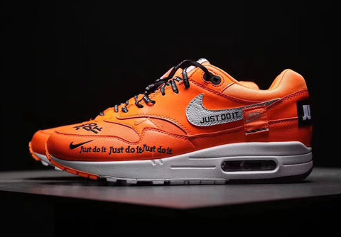 Nike air max 1 just do it is nike doing the most this orange iteration is much more vibrant than the white rendition that surfaced a few weeks ago even the laces come off as a bit solutioingenieria Gallery