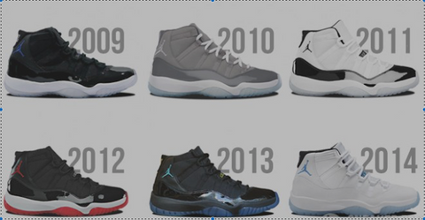 sports shoes fe54c b096b 11 years of 11's: A History of Holiday Releases – Reshoevn8r