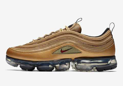 brand new 711fa 100a3 Nike AIr VaporMAX 97 Gold and SIlver – Reshoevn8r