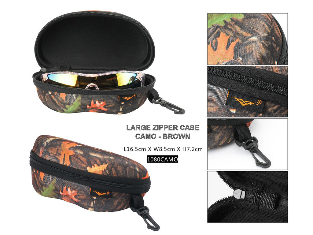 A1080-CAMO - Large Camouflage Zipper Case w/ Hook