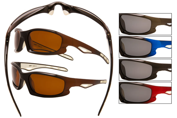 5071 - PVX Polarized Sports Wrap Sunglasses