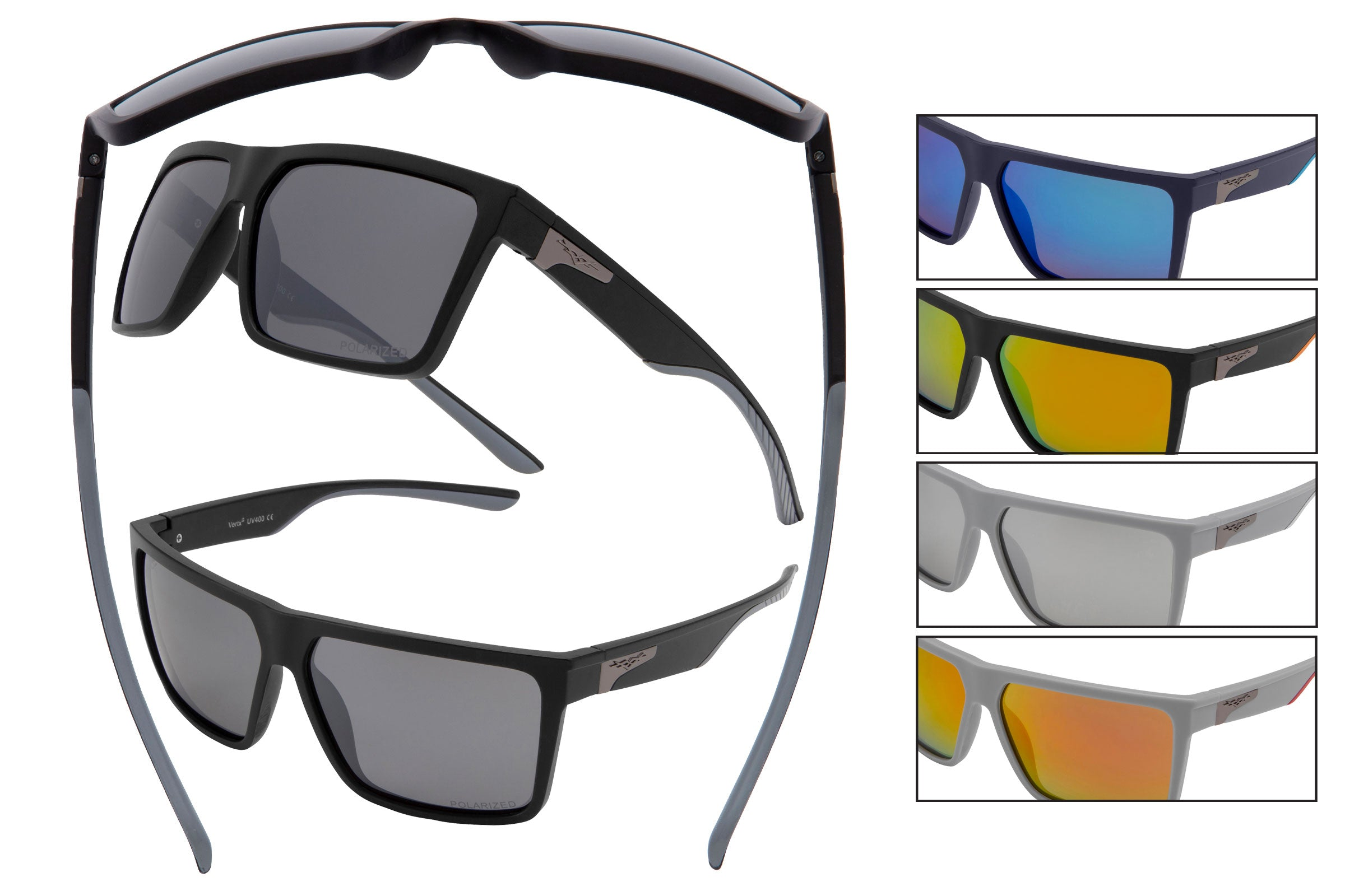 5112 PVX - PolarVX Polarized PC Sports Wrap Sunglasses
