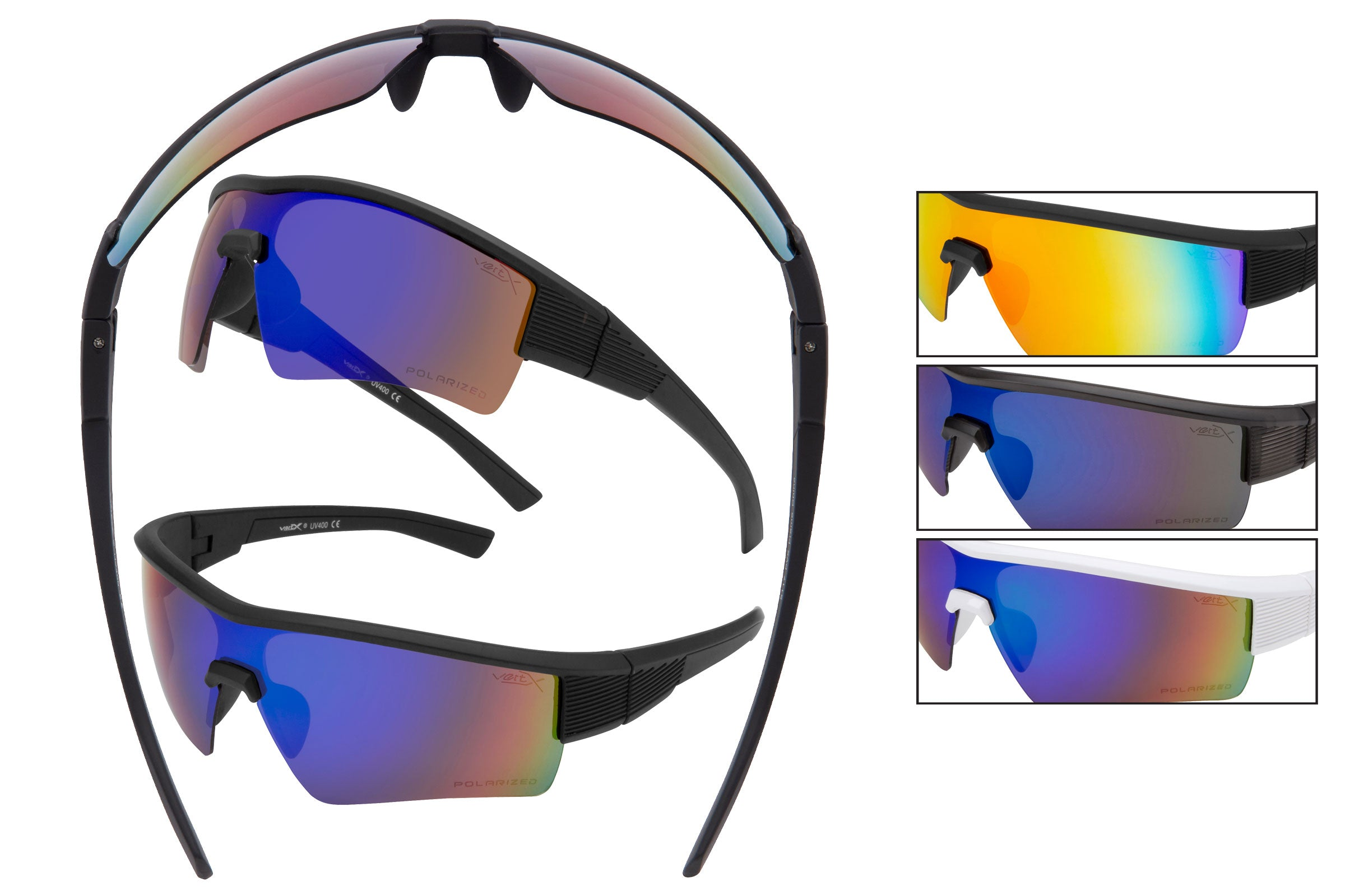5117 PVX - PolarVX Polarized Sports Wrap Sunglasses