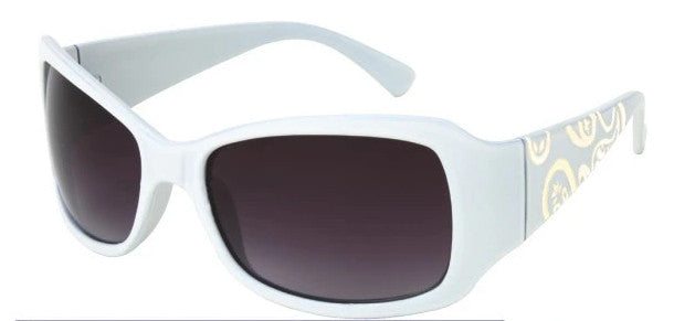5152W - Retro White Plastic Sunglasses