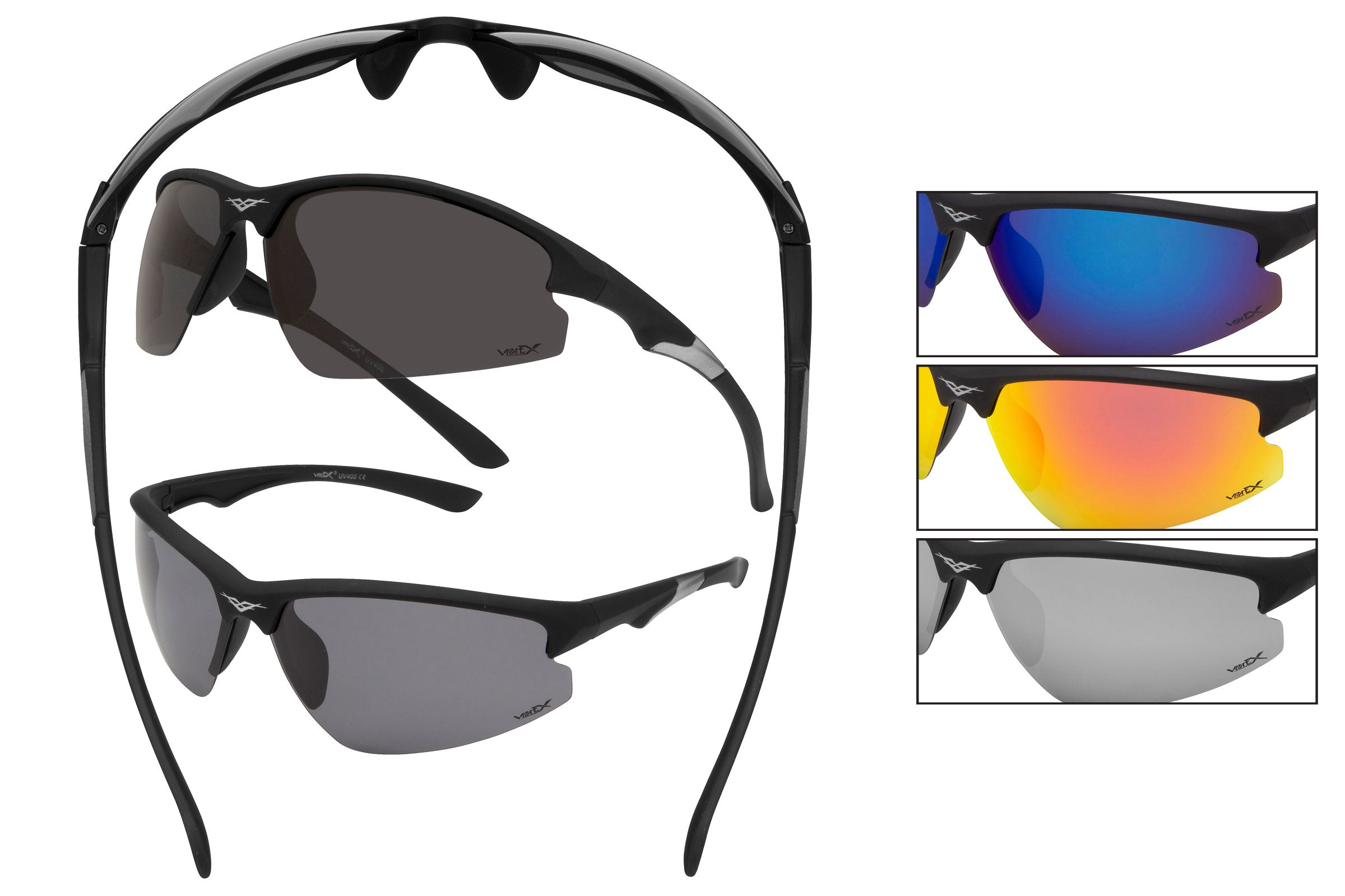 52045-POL - VertX Polarized Sports Wrap Sunglasses