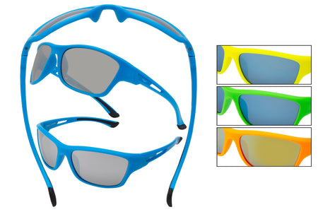 55055-NEON - VertX Neon PC Sport Wrap Sunglasses
