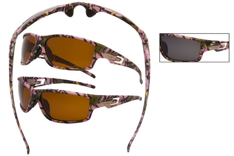 56018-LPUR POL - VertX Women's Camo Sports Sunglasses