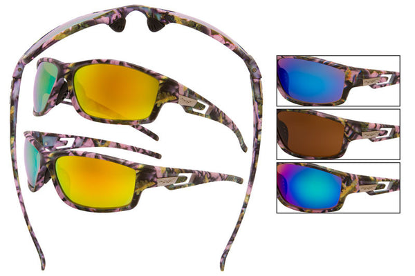 56018-LPUR - VertX Women's Camo Sports Sunglasses