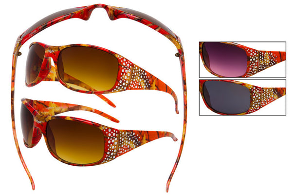 56303-CORAL - VertX Women's Camo Sports Sunglasses
