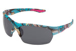 56313-TEAL - VertX Women's Teal Camo Sport Wrap Sunglasses