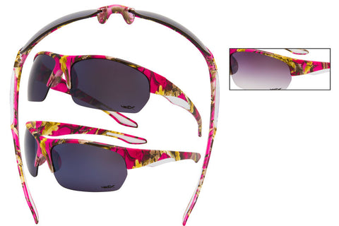 56313-HTPK - VertX Women's Camo Sports Sunglasses